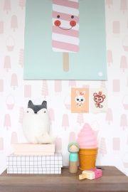 #icecream #nightlight #poster #psikhouvanjou #kidsroom #monkey #rabbit #donnawilson #hipgemaakt