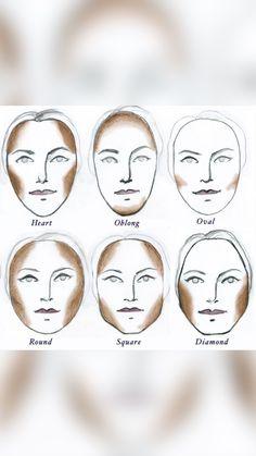 Face Contouring, Contour Makeup, Skin Makeup, Makeup Brushes, Eye Makeup Steps, Natural Eye Makeup, Lip Makeup Tutorial, Simple Makeup Tutorial, Makeup For Beginners
