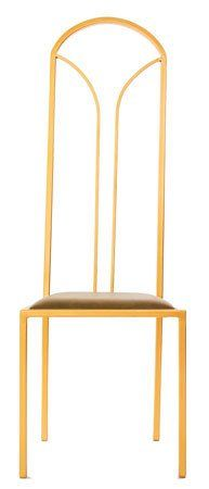 The Consummate - Gold Effect Tall Metal Frame with Olive Leather Chair – Andrew McQueen Furniture