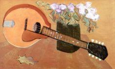 Mandolin with Flowers - Milton Avery - The Athenaeum