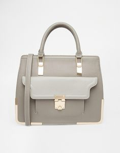 New Look Structured Bag with Metal Corners