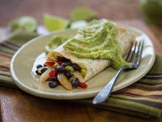 Smothered-with-Avocado Black Bean Burritos from @Jewel-Osco