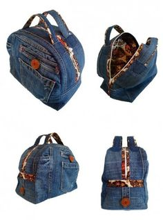 bag recycled denim jeans