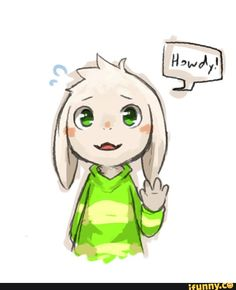 Undertale. Asriel, a cute cinnamon roll, too good, too pure for his fate.