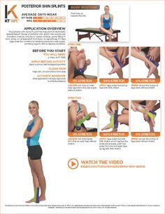 Learn the proper way to use KT Tape to help with shin splints at TheraTape. Our step by step guide demonstrates taping technique to improve muscle pain! Running For Beginners, Running Tips, Roller Derby, Kt Tape Shin Splints, K Tape, Kinesiology Taping, Athletic Training, Calf Muscles, Half Marathon Training