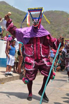 Vestimenta de los Diablos Danzantes de Chuao #Venezuela #Aragua #Folclore #CorpusChristi