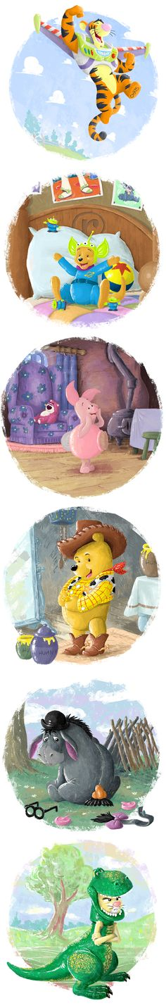 Winnie The Pooh / Toy Story Mashup