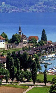 ***Switzerland Spiez Lake