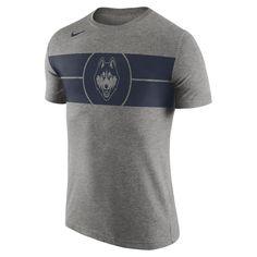 Men's Nike Charcoal UConn Huskies Basketball Logo Tri-Blend T-Shirt