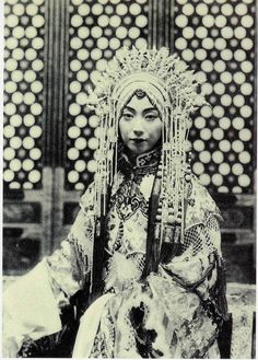 Mei Lanfang (1894-1961), male actor in the stage dress of a young woman - the only role he played in the Beijing Opera