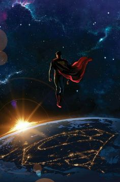 Superman watching over earth
