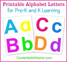 Free Printable Alphabet Letters - use for flashcards or tactile letters