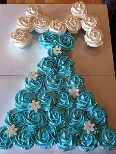 Frozen Elsa cupcake dress