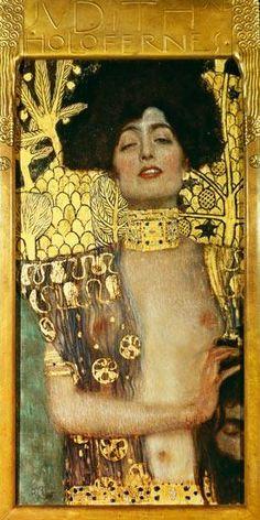 """""""Giuditta I"""", Gustave Klimt, 1901; olio su tela, 84x42 cm; 84×42 cm; Österreichische Galerie Belvedere, Vienna."""