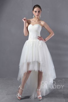Pretty+Asymmetrical+Sweetheart+High-Low+Tulle+Wedding+Dress+CWLH13002