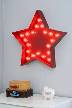 Possibly the red marquee star... somewhere. I just love it, wish the room was bigger to accommodate it