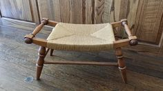 TELL CITY CHAIR CO. NO. 2238 FIBRE FOOTSTOOL