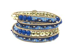 Calypso Wrap Bracelet in Blue