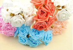 Wholesale  - Buy 2.4 Artificial Head Rose Bouquet Latex Bridal Flowers Wedding Centerpieces Craft, $0.38 | DHgate