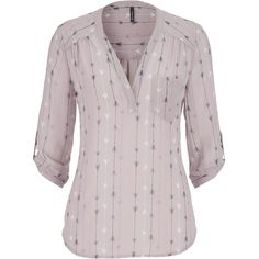 maurices The Perfect Blouse In Arrow Print ($29) ❤ liked on Polyvore featuring tops, blouses, shirts, multi, shirts & blouses, chiffon shirt, pink chiffon shirt, v neck shirts and v neck blouse