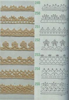 MES FAVORIS TRICOT-CROCHET: 75 bordures au crochet …