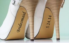 Bridesmaid, Maid of Honor Shoe Stickers - Bridesmaid Gift Idea - Vinyl Wedding Party Shoe Decals on Etsy, $8.00