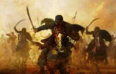 Medieval+warrior | ... , medieval, attack, rider, warriors, horses, charge, desert warriors