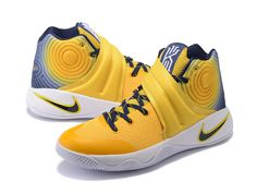 premium selection eb6ad b095d ... with an Kyrie Irving Nike Kyrie 2 II Chaussures Nike Basketball Pas Cher  Pour Homme Jaune Bleu   Lumière ...