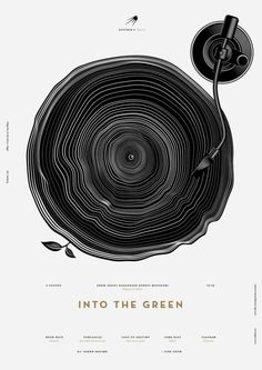 "Into The Green Poster for Sputnik-4: Open Air ""Sputnik is a series of cultural events in Tallinn, live gigs, performances and art."" This time, it is an open air event. Sputnik is getting out of the basement and into nature with funky, indie, jazz and techno. By Anton Burmistrov"