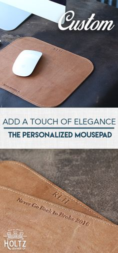 $25.00 - Personalize with Message or Names - The Architect mouse pad is the perfect asset to your workspace! This rectangular mouse pad offers a large work area and allows your mouse to move smoothly on your desk top.  With it's curved edges and elegant stitching, this mouse pad is sure to add personality to your cubicle.