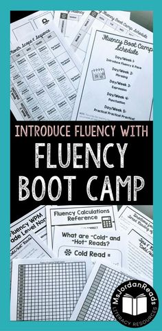 Fluency Boot Camp includes everything you need to get started with fluency in your classroom! This page product is perfect for introducing FLUENCY and it's four major components: pace, phrasing, expression, and punctuation. Each day (or week! Reading Help, Reading Centers, Reading Fluency, Reading Intervention, Teaching Reading, Guided Reading, Reading Tutoring, Teaching Ideas, Learning