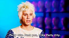 Party City - fuck you, I like party city. needles (aaron coady)