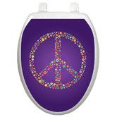 Found it at Wayfair - Youth Purple Peace Toilet Seat Decal