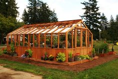 CEDAR-BUILT 12' X 22' FREESTANDING GREENHOUSE
