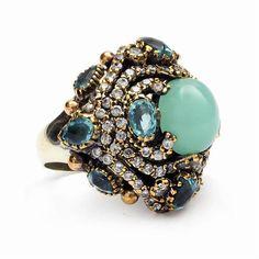 Ottoman Palace Turkish Artisan Ring Gold Jewelry, Jewelry Box, Jewelry Accessories, Jewellery, Turkish Jewelry, Fantasy Jewelry, Jewelry Photography, Bracelets, Topaz