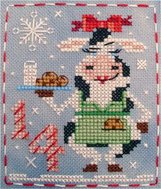#14 Cassie Cow of the Brooke's Books Advent Animals Cross Stitch Freebies…