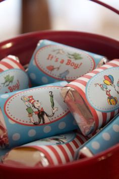 Dr. Seuss mini candy bar wrappers..peronalizable!
