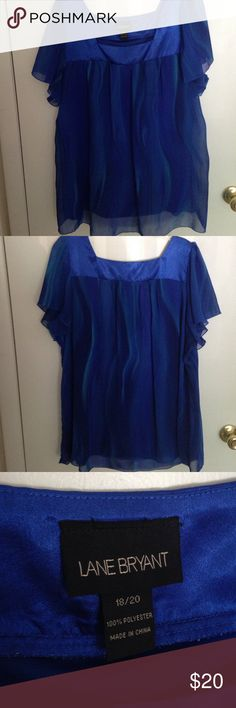Lane Bryant Jewel tone blouse Lane Bryant brand. Size 18/20. Loose fit, very comfortable. 100% polyester. Beautiful jewel tone. Very gently worn. Lane Bryant Tops Blouses