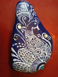 Custom hand Painted Rocks/beach decor/painted by OmArtCreations, $10.00