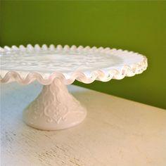 beautiful old cake pedestal