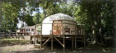 Yurt on stilts