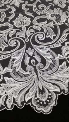 Ivory lace fabric Embroidered lace French Lace Wedding