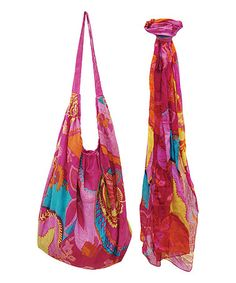 Love this Tropical Cherry Hobo & Scarf by Red Carpet Studios on #zulily! #zulilyfinds