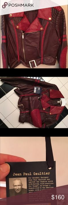 Jpg lamb skin bomber jacket NWT Sold out!!  Rare never worn leather bomber. Styling is incredible. Details are amazing. I live in Florida so jacket was just stored. Ready for a new loving home. Happy fall in summer heat Jean Paul Gaultier Jackets & Coats