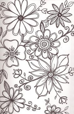 Flowers art drawing doodles zentangle 23 Ideas for 2019 Tangle Doodle, Doodles Zentangles, Zentangle Patterns, Zen Doodle Patterns, Henna Patterns, Art Floral, Floral Doodle, Doodle Drawings, Doodle Art