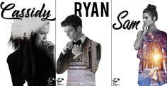 Small Set  -Cassidy, Ryan, Sam-  used: Melissa Benoist, Grant Gustin, Marie Avgeropoulos Status: Used, free, free