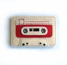 Retro Cassette Tape Hand Sewn