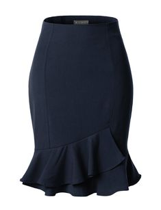This fitted high waisted pencil midi skirt is a great staple item for business professional attire. Tuck your favorite blouse under this pencil skirt with a p Business Professional Attire, Business Attire, African Fashion Dresses, Fashion Outfits, Womens Fashion, Office Skirt, Mode Style, Skirt Outfits, Short Skirts
