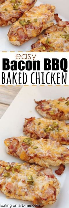 Easy Bacon BBQ Baked Chicken
