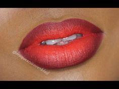 Blood Orange Lip Tutorial using NYX Cosmetics Soft matte lip cream in Morocco ! - YouTube